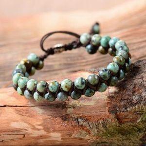 Handmade Natural African Turquoise Bracelet